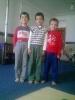 ایستاده از راست رضا - امیر حسین و محمد غریبی