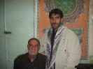 زنده یاد سید جواد میرحسینی همراه پدربزرگ مرحومش آقا سید جعفر میر حسینی