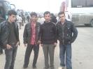 عکس یادگاری مرحوم رضا غلامحسینی در شلمچه (نفر اول از سمت راست )