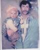 شهید حیدر غریبی همراه پسرش یوسف غریبی