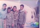 ایستاده از راست حاجعلی آقامحمدی - شهید احمد سلیمانی - رحیم اسفندانی و آزاده علی اتابکی