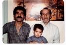 مرحوم کدخدا محمد حسین سلیمانی به همراه پسر و نوه