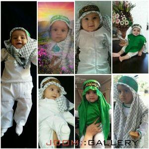 کوچولوهای میلاجردی، در لباس شیرخوارگان حسینی