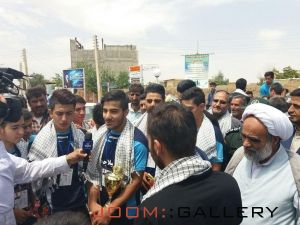 مصاحبه شبکه آفتاب با بازیکنان تیم شهید حیدر غریبی