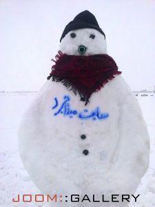 آدم برفی زیبا در شهر میلاجرد زمستان 92