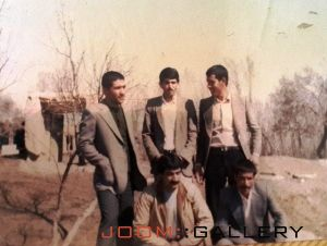 ایستاده از راست براتعلی اتابیگی - علی اصغر غلامحسینی - علیرضا عاشوری  نشسته مرحوم علی اصغر آقامحمدی -  سبزعلی اسدی